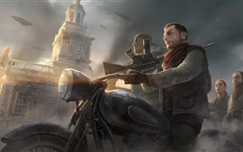 Preview wallpaper Homefront: The Revolution, motorcycle, weapon