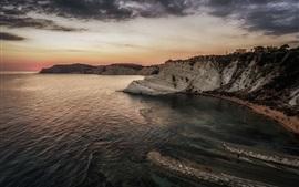 Italia, Realmonte, Sicilia, rocas, mar