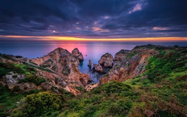 Lagos, Portugal, Algarve, sea, coast, rocks