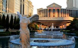 Preview wallpaper Las Vegas, USA, Caesars Palace, fountain