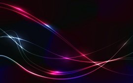Preview wallpaper Lines, colorful, abstract, black background