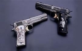 M1911 armas, gravura, arma