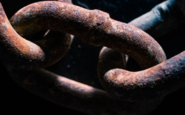Preview wallpaper Metal chain, rusty