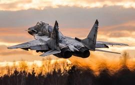 Многоцелевой истребитель МиГ-29СМ взлетает