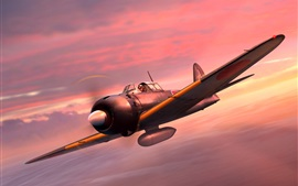 Preview wallpaper Mitsubishi Fighter A6M5 Zero, Japanese Navy