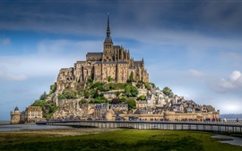 Mont-Saint-Michel, fortress, Normandy, France