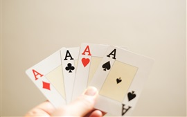 Preview wallpaper Playing cards, A