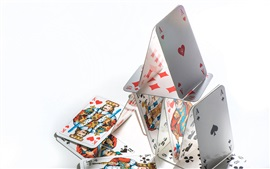 Poker cards, struct, white background