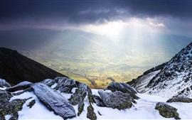 Небоскребы, горы, Англия