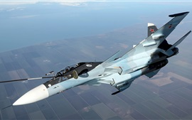 Preview wallpaper Su-30CM fighter, air refueling