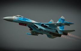 Preview wallpaper Sukhoi Su-27 combat aircraft