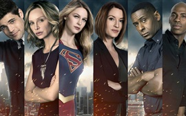 Preview wallpaper Supergirl, TV series, actors