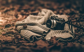 Preview wallpaper Sweater, camera, blurry