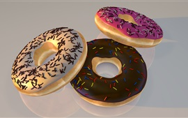 Preview wallpaper Three donuts, food