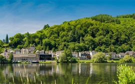 Preview wallpaper Traben-Trarbach, Germany, river, houses, trees, green