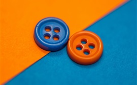 Preview wallpaper Two buttons, orange and blue