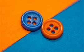 壁紙のプレビュー オレンジとブルーの2つのボタン