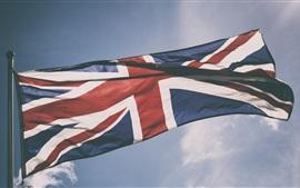 Aperçu fond d'écran Drapeau britannique, ciel