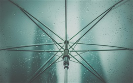 Preview wallpaper Umbrella, rain, water drops