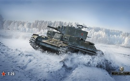Preview wallpaper World of Tanks, Soviet T-29 tank