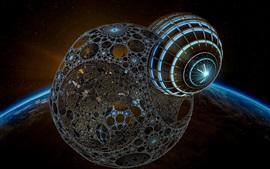 3D 아트 그림, 공간, 지구, 행성