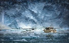 Antártida, hielo, barco, mar