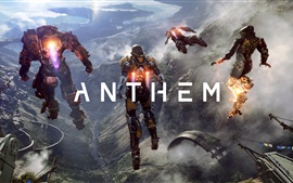 Preview wallpaper Anthem, video game, robot, action to flying