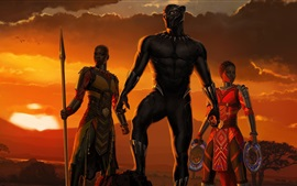 Preview wallpaper Black Panther, Africa, 2018 movie