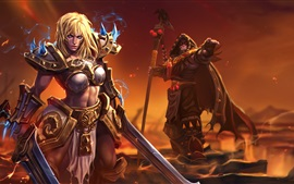 Preview wallpaper Blonde girl, warrior, World of Warcraft
