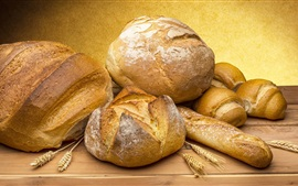 Bread, food, wheat spikelets