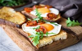 Breakfast, sandwiches, omelette egg