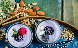 Preview wallpaper Breakfast, smoothies, drink, berries
