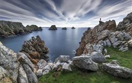 Бретань, скалы, море