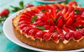 Preview wallpaper Cake, strawberry, pie, food