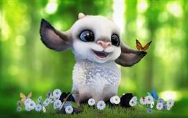 미리보기 배경 화면 만화 양, 귀여운 동물