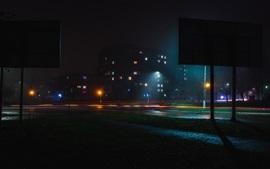 Город, ночь, огни, освещение