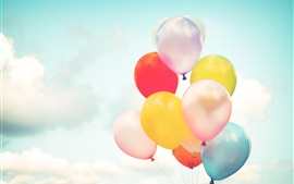 Preview wallpaper Colorful balloons, sky