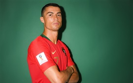 Preview wallpaper Cristiano Ronaldo, Russia 2018, FIFA World Cup