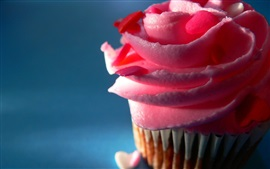 Cupcake, creme rosa