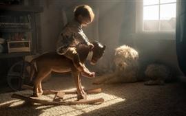 Симпатичная детская игра деревянная лошадь