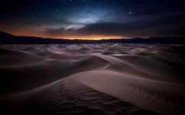 Deserto, noite, estrelado