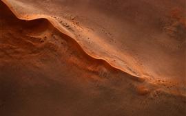 Пустыня, пески, вид сверху