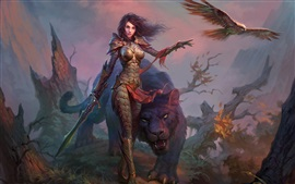 Preview wallpaper Dragons of Eternity, girl, warrior