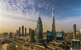 Dubai, UAE, city, skyscrapers, Burj Khalifa