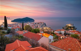 Preview wallpaper Dubrovnik, Croatia, Adriatic sea, city, island