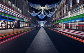 England, Christmas, Regent Street, night, festive lights