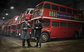 Inglaterra, autobuses, estilo retro