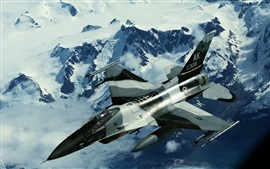 Preview wallpaper F16 military aircraft