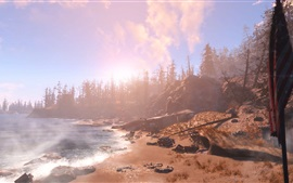 Preview wallpaper Fallout 4, trees, beach