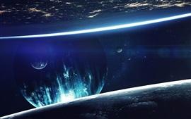 Фантазия космос, планета, свет